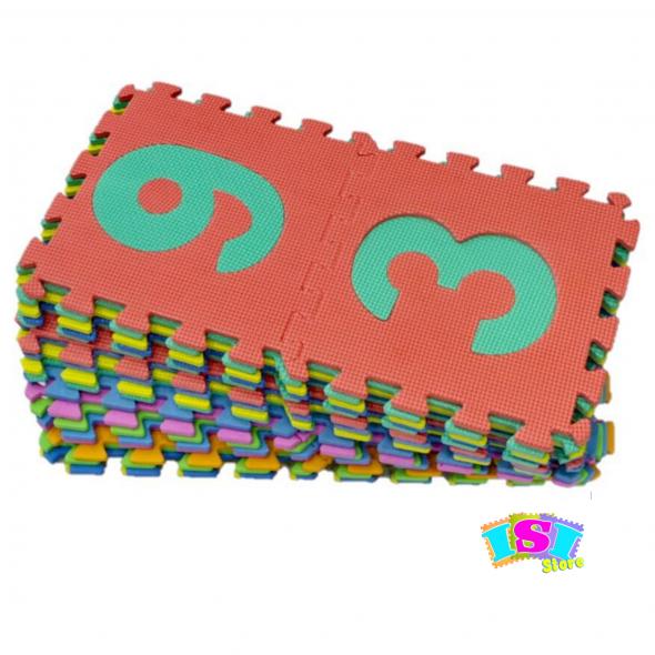 Alfombra pack 36 cuadrados 29x29cm 8mm grosor Abecedario números