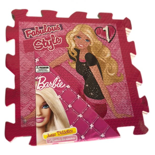 Alfombra pack 8 cuadrados 30x30cms, 10mm grosor. – Barbie