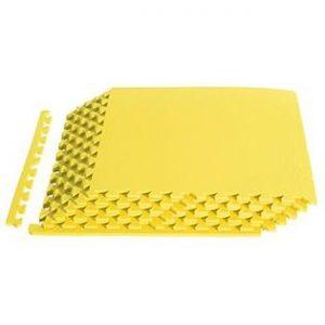 Alfombra pack 6 cuadrados 58x58cms, AMARILLO 12mm grosor