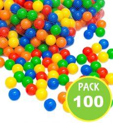 Pelotas plásticas 6cm 100unds