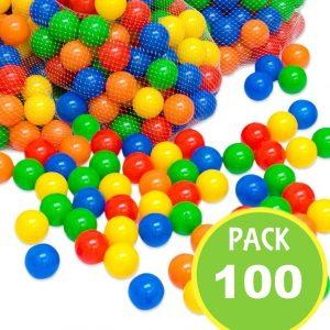Pack 100 Pelotas Plásticas, 6cms