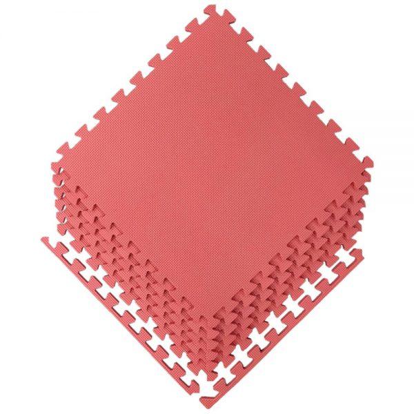 Alfombra pack 6 cudrados 58x58cms, ROJA 12mm grosor