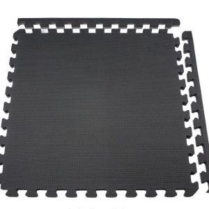 Alfombra Goma eva negra, 58x58cms, 12mm grosor