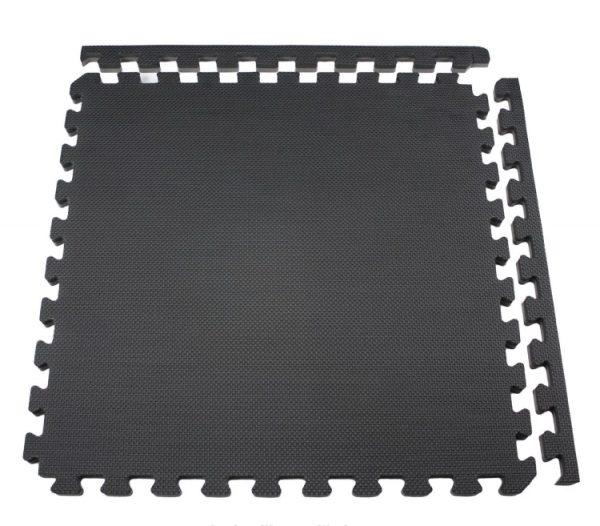 Alfombra Goma eva negra, 60x60cms, 12mm grosor