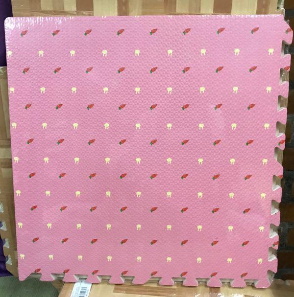Alfombra con diseño, rosada, 60×60, 10mm