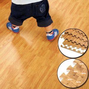 Alfombra diseño piso flotante- madera 60×60, 10mm, café claro