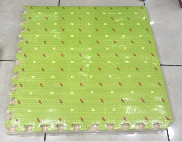 Alfombra con diseño, verde, 60×60, 10mm