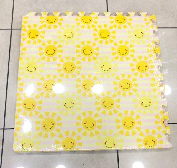 Alfombra con diseño, sol feliz, 60×60, 10mm