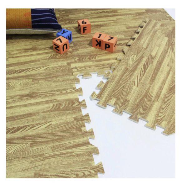 Alfombra diseño piso flotante- madera 60×60, 10mm, café ocre
