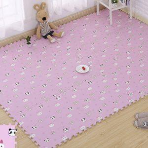 Alfombra diseño panda rosado