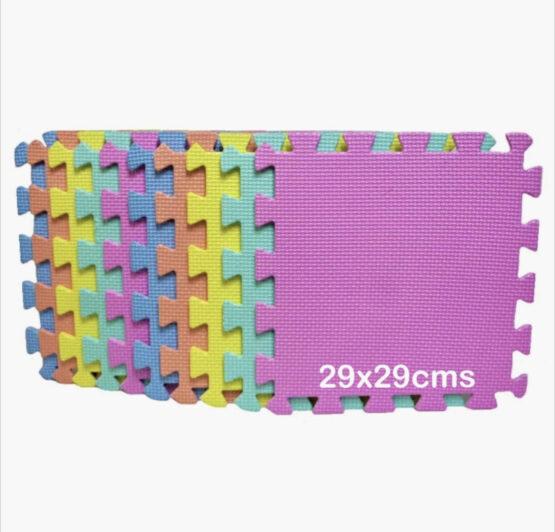 Alfombra pack 10 cuadrados lisos 29x29cms, 9mm grosor