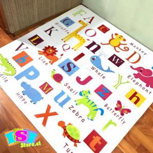 Alfombra goma eva diseño abecedario en Inglés