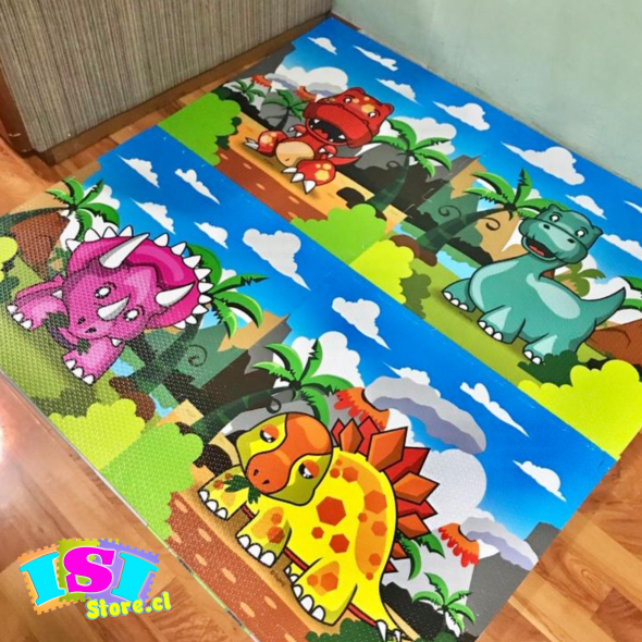 Alfombra diseño dinosaurios