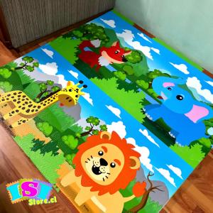 Alfombra goma eva diseño animales de la selva