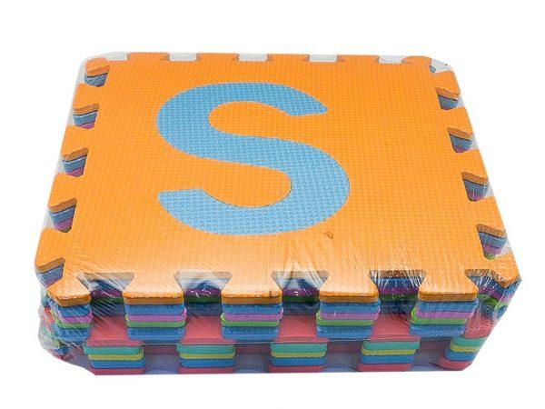 Alfombra pack 10 cuadrados 29x29cms, 8mm grosor letras