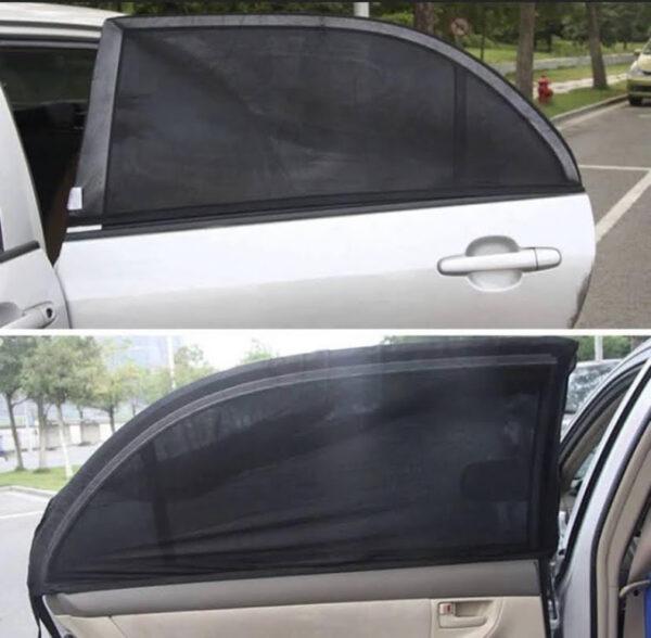 Malla protectora de sol, ventanas traseras de auto 2und