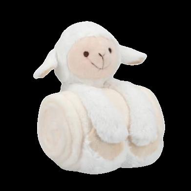 Peluche con manta ovejita