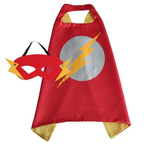 Capa superhéroe con antifaz, Flash