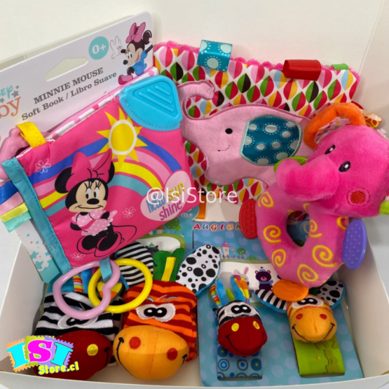 Cajita sensorial Minnie  Mouse 5 artículos