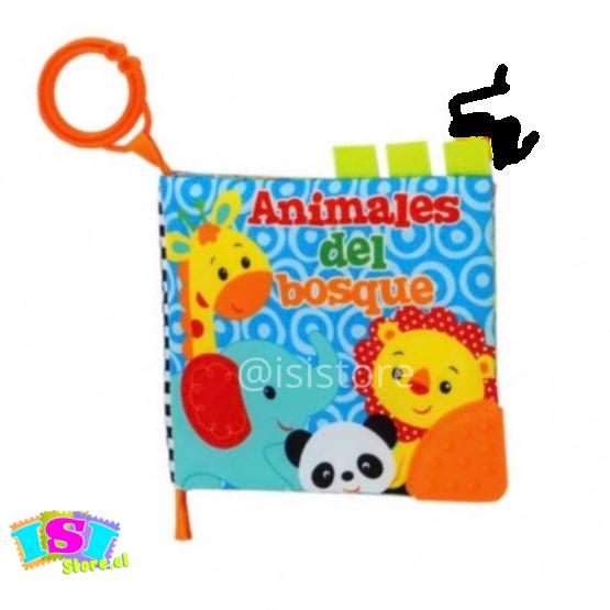 Libro de tela para bebés, animales del bosque