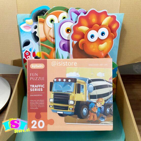 Cajita Libros más puzzle 20 piezas