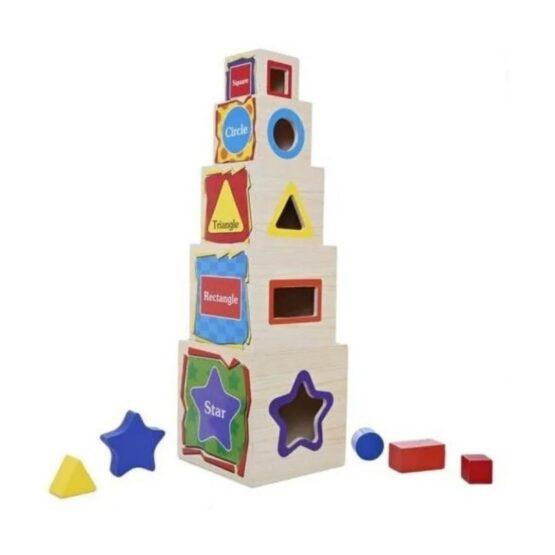 Torre de cubos apilables
