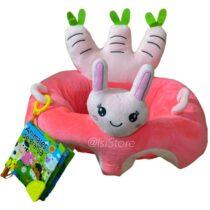 cojin conejo rosasdo